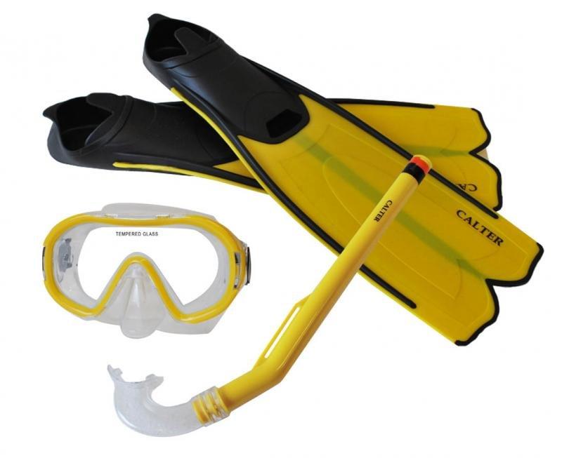 Potápěčská sada - Potápěčský set CALTER KIDS S06+M168+F41 PVC, žlutý