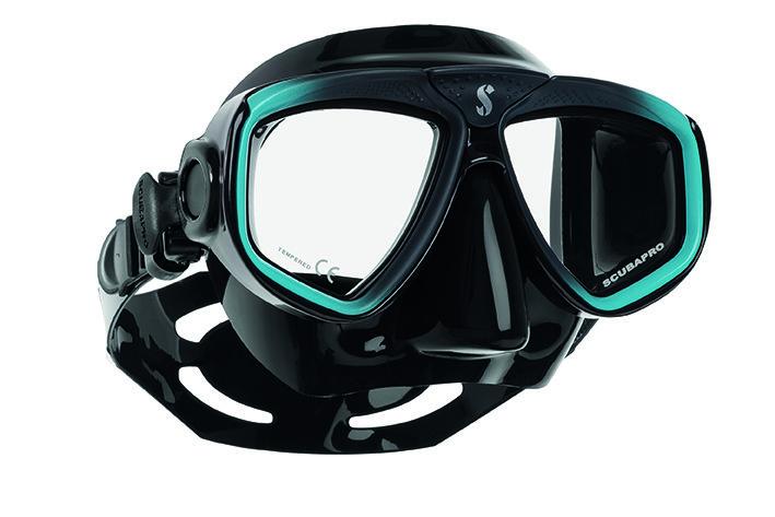 Potápěčská maska - Maska potápěčská Zoom Evo Scubapro - tyrkysovo/černá - černá