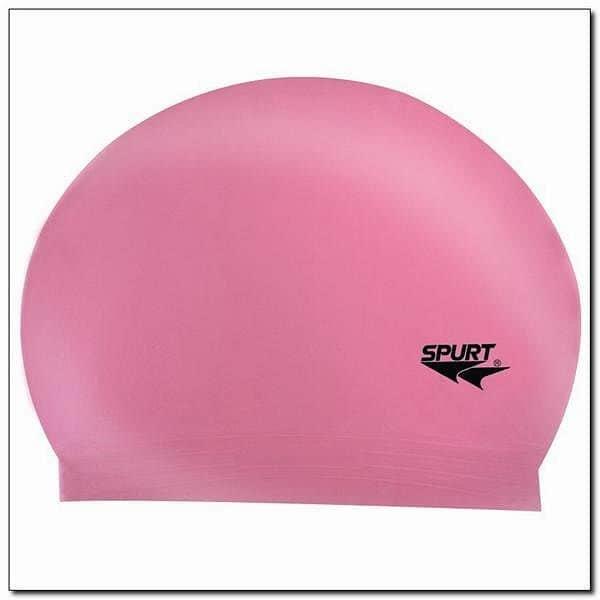 Růžová pánská nebo dámská plavecká čepice SPURT