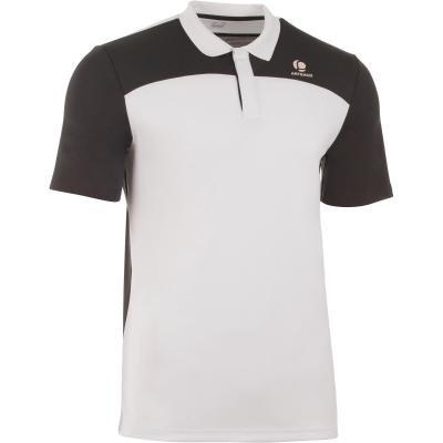 Bílo-černé pánské tenisové tričko Artengo - velikost L