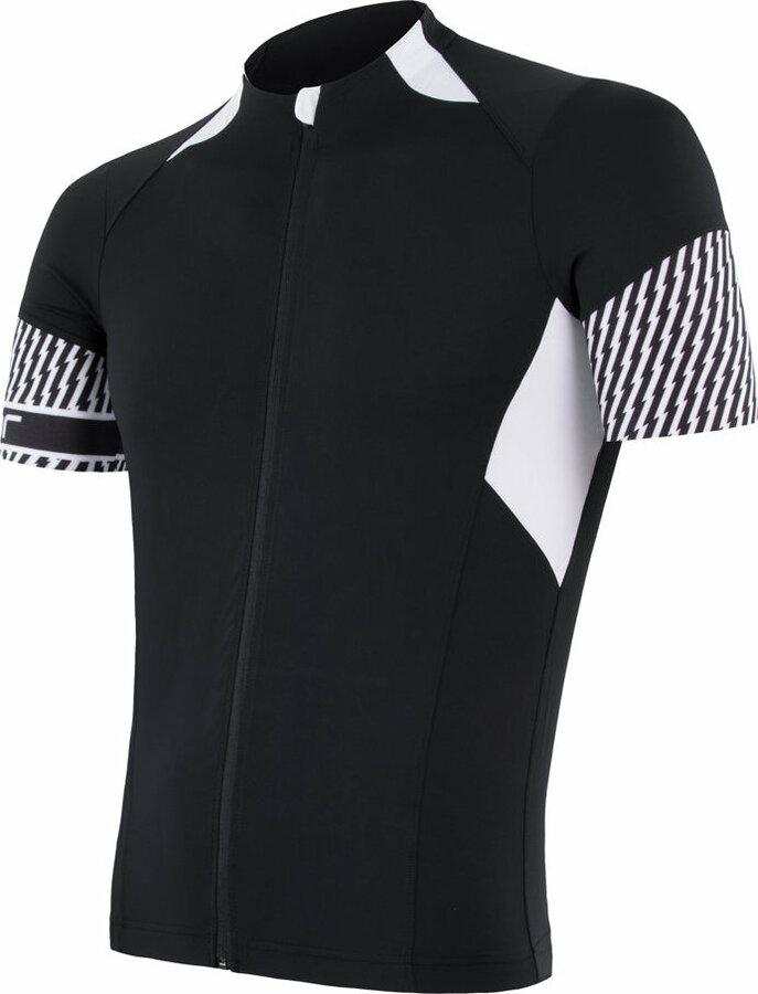 Bílo-černý pánský cyklistický dres Sensor