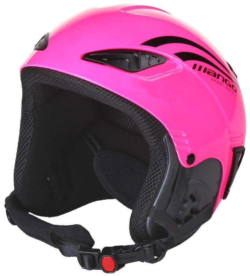 Růžová dívčí lyžařská helma Rocky, Mango - velikost 48-52 cm