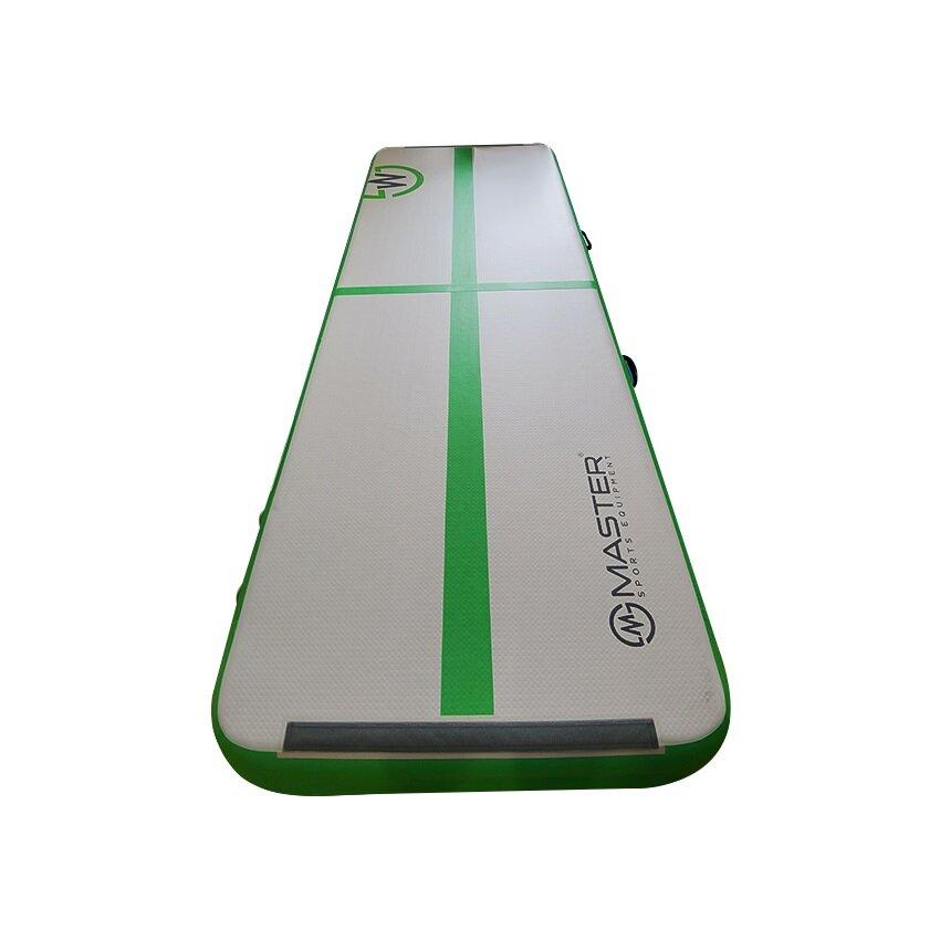 Zelený airtrack Masterjump - délka 300 cm a šířka 100 cm