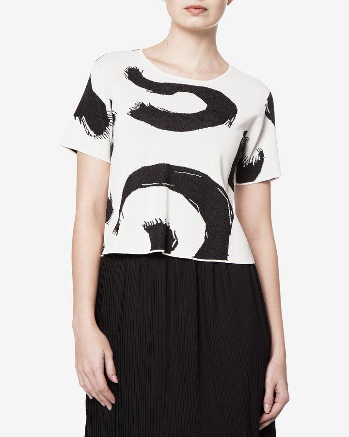 Bílo-černý dámský svetr Silvian Heach - velikost XS