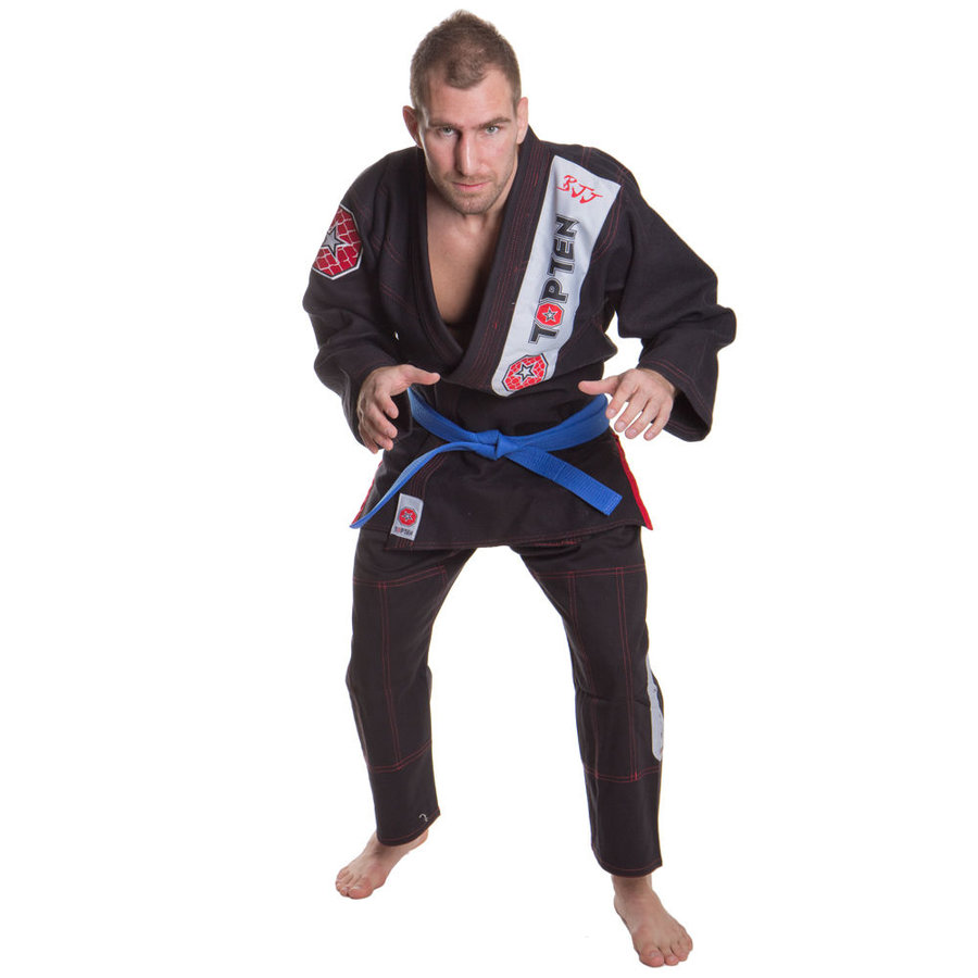 Černé kimono na jiu-jitsu Top Ten - velikost 160