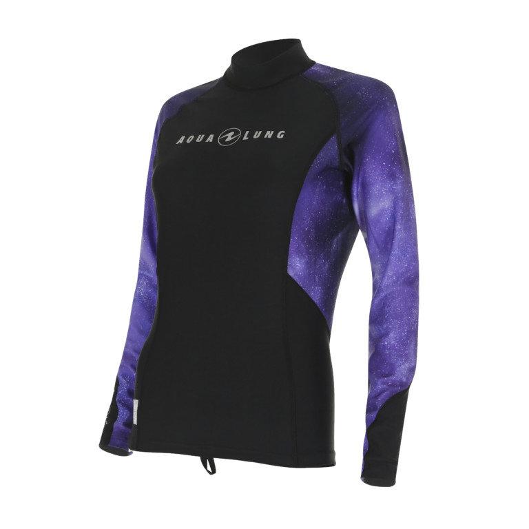 Černo-modré dámské lycrové tričko Aqualung