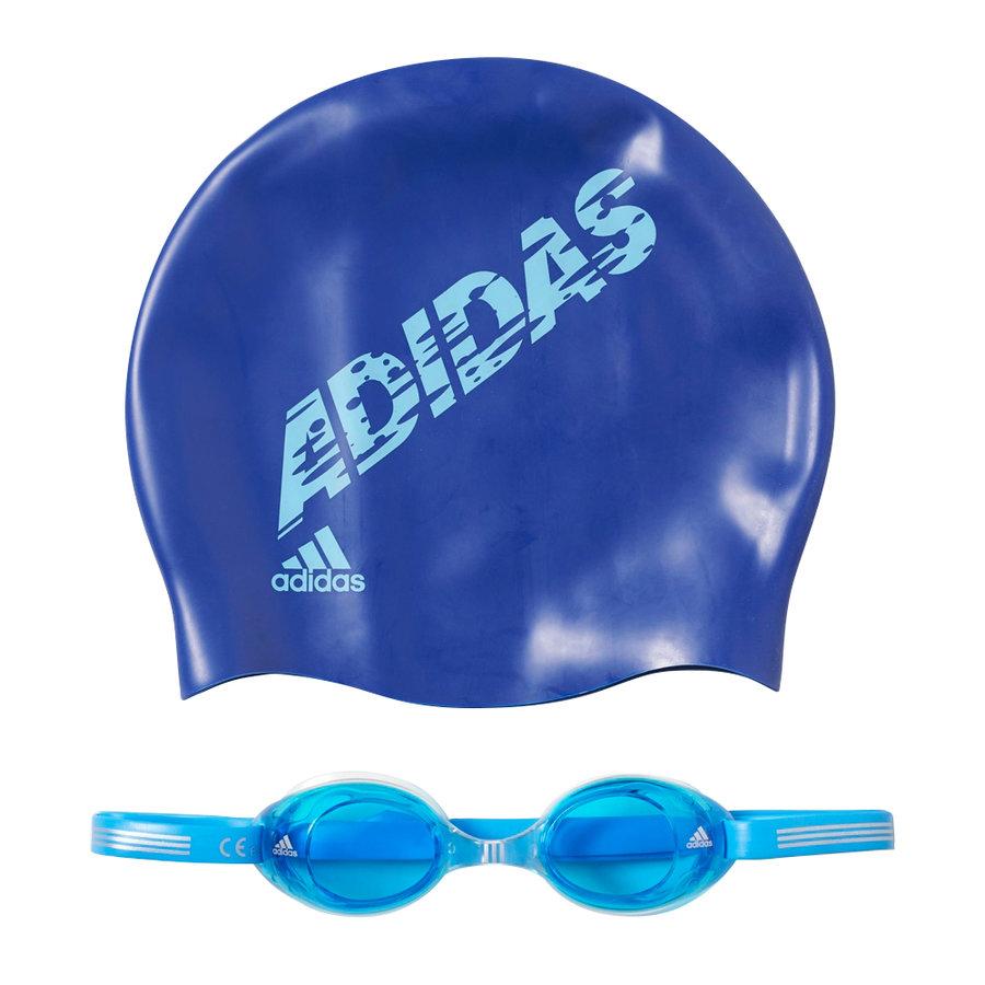 "Modrá dětská plavecká sada Kids Pack, Adidas ""čepice, brýle"""