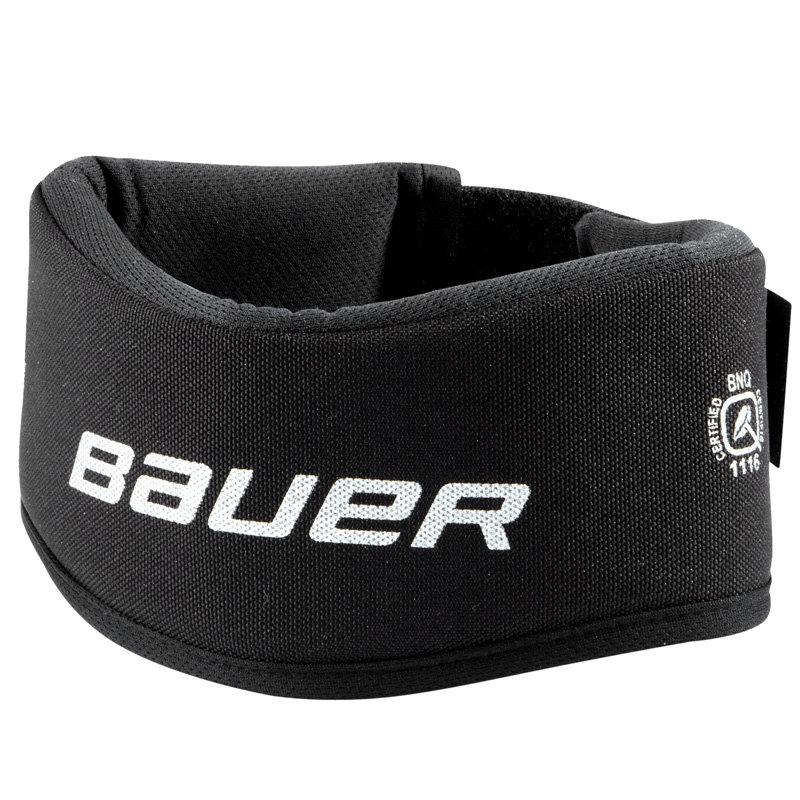Černý hokejový nákrčník Bauer