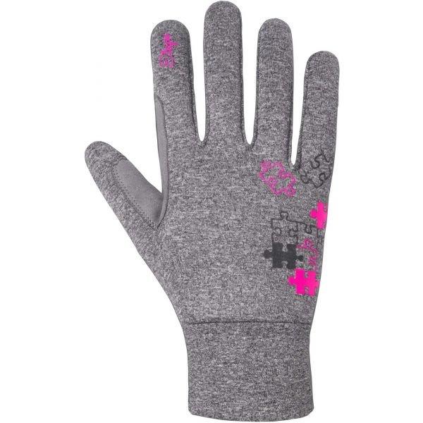 Šedé dětské rukavice na běžky Etape