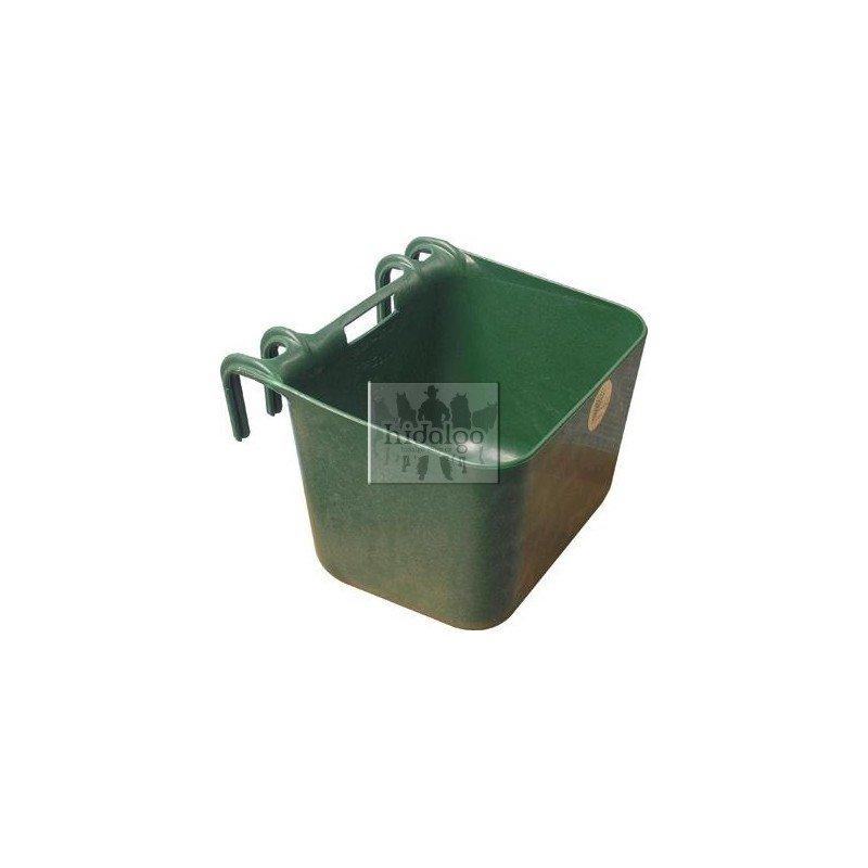 Zelený plastový závěsný žlab - objem 30 l
