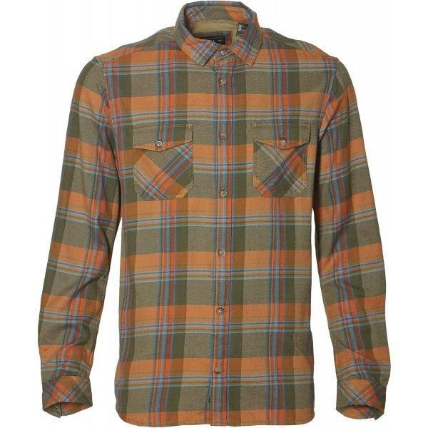 Oranžovo-zelená pánská košile s dlouhým rukávem O'Neill - velikost S