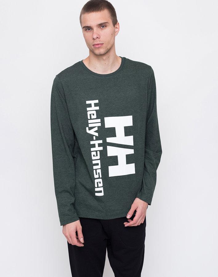 Zelené pánské tričko s dlouhým rukávem Helly Hansen