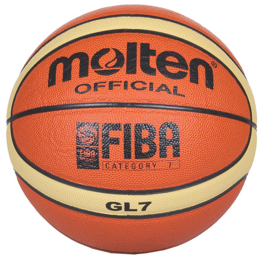 Oranžový basketbalový míč BGL7, Molten - velikost 7