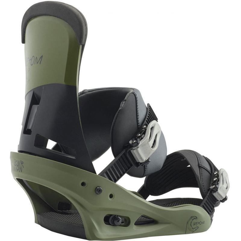 Zelené vázání na snowboard Burton - velikost M