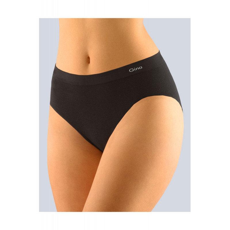 Kalhotky - Dámské klasické kalhotky Gina 00008P - barva:GINMxC/černá, velikost:S/M