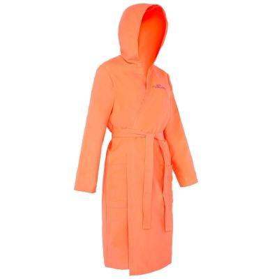 Oranžový dámský župan na vodní pólo Nabaiji