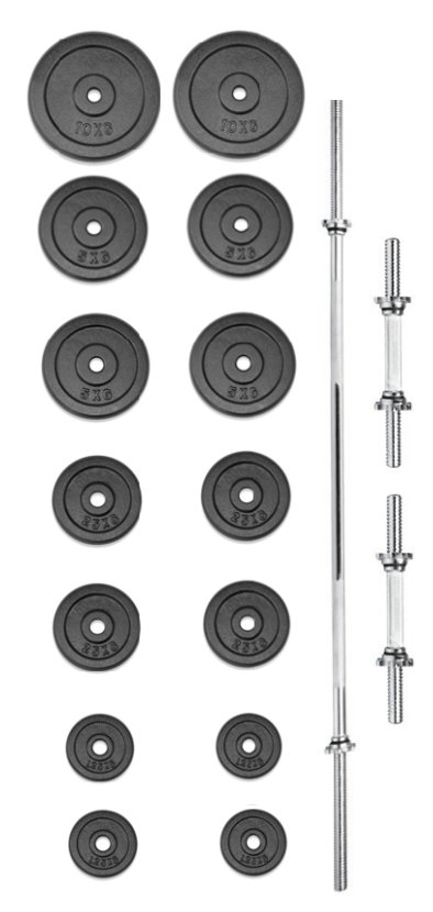Činkový set - TRINFIT set činek PREMIUM 70 kg kovový