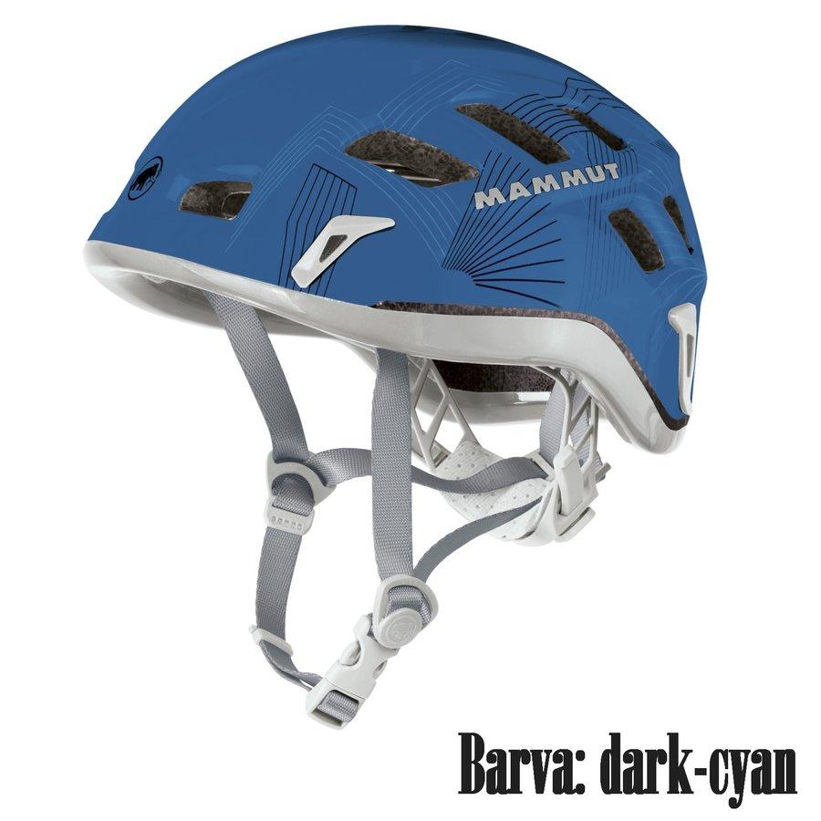 Modrá horolezecká helma Rock Rider, MAMMUT - velikost 56-61 cm