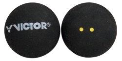 """Černý míček na squash """"dvojitá žlutá tečka"""" Victor - 1 ks"""