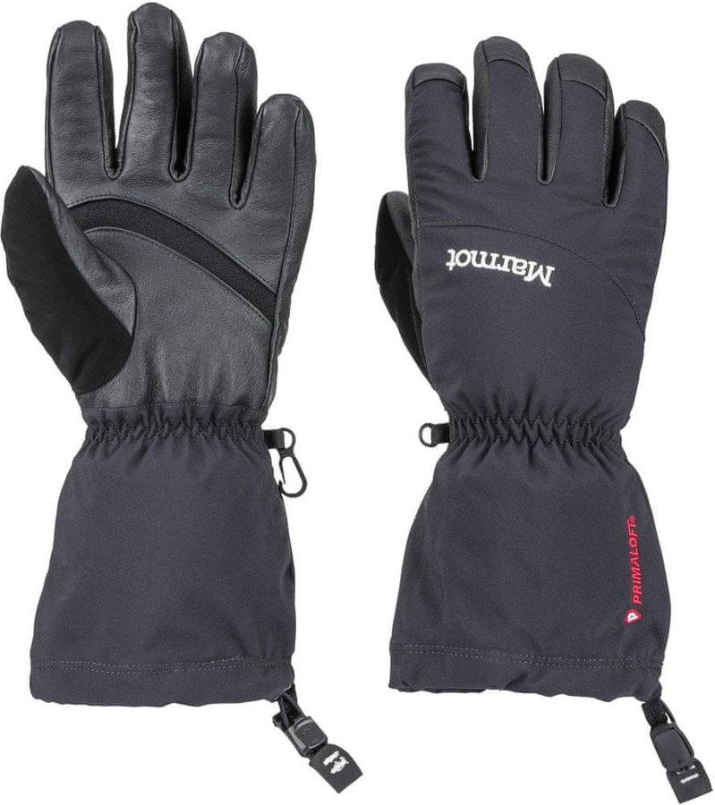 Černé dámské lyžařské rukavice Marmot