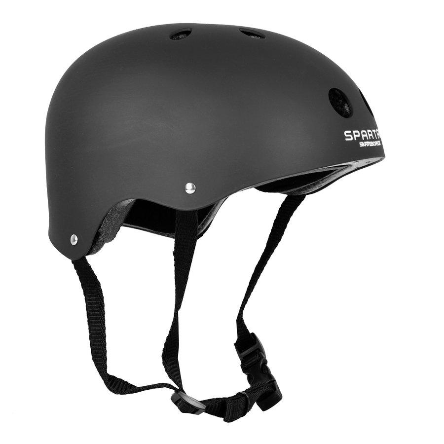 Černá cyklistická helma Basic, Spartan