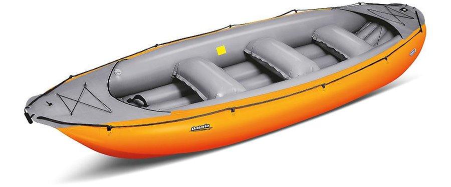 Žlutý nafukovací raft pro 6 osob Ontario, Gumotex