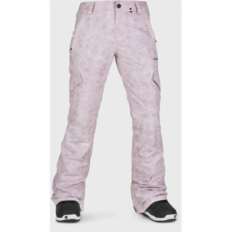 Růžové dámské snowboardové kalhoty Volcom - velikost L