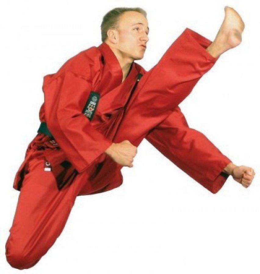 Červené kimono na karate Hayashi - velikost 160