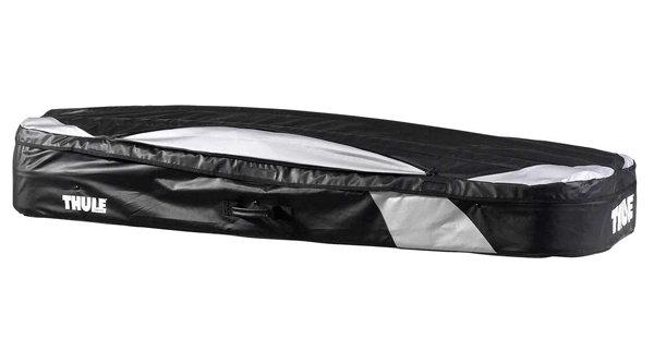 Černý střešní box Thule - délka 190 cm a šířka 50 cm