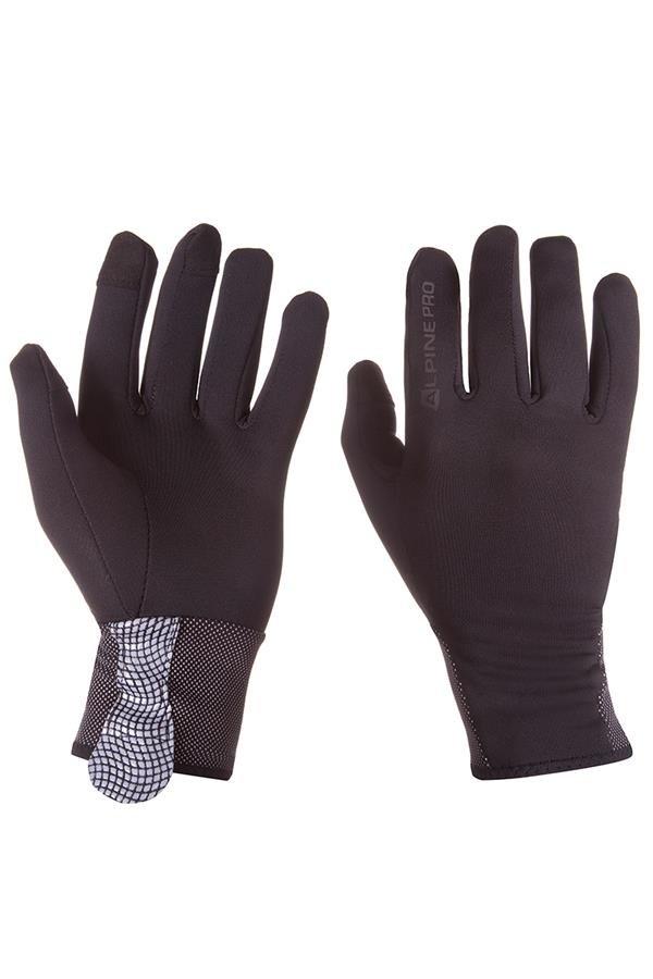 Černé pánské lyžařské rukavice Alpine Pro - velikost M