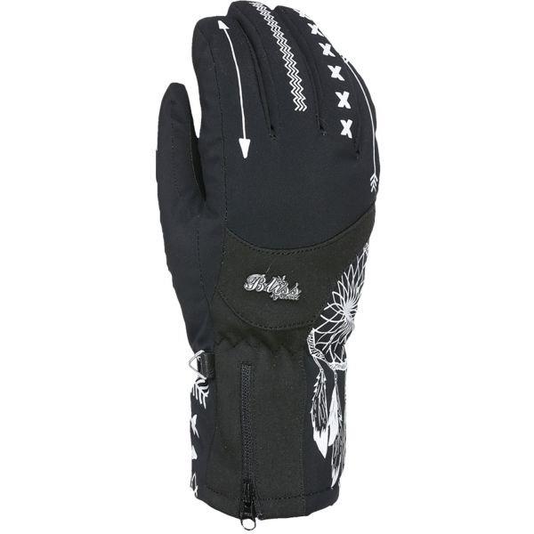 Černé dámské lyžařské rukavice Level