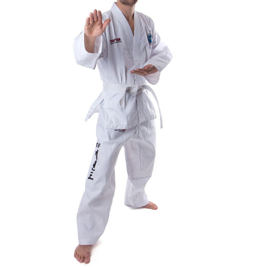 Kimono na taekwondo - Top Ten dobok KYONG - Student - bílá - bílá - velikost 200