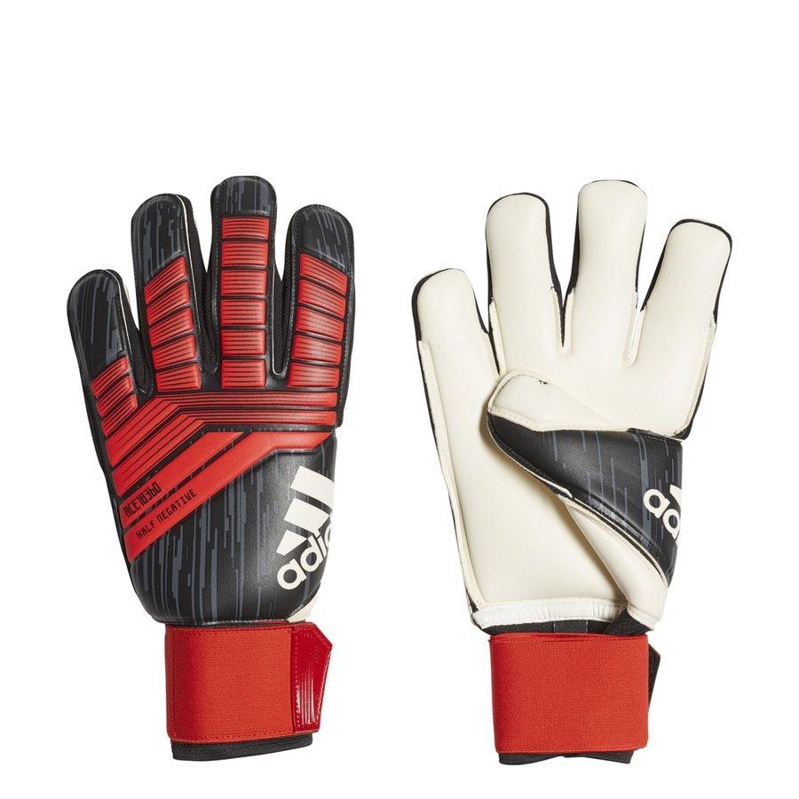 Černo-červené brankářské fotbalové rukavice Predator Half N, Adidas - velikost 8