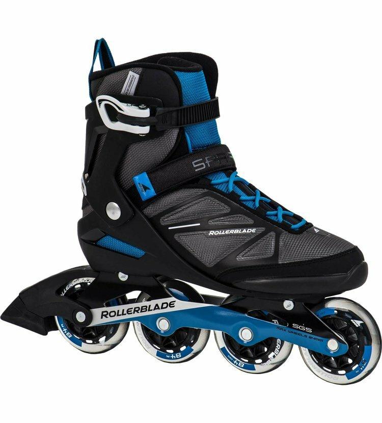 Černo-modré fitness kolečkové brusle Rollerblade - velikost 42,5 EU