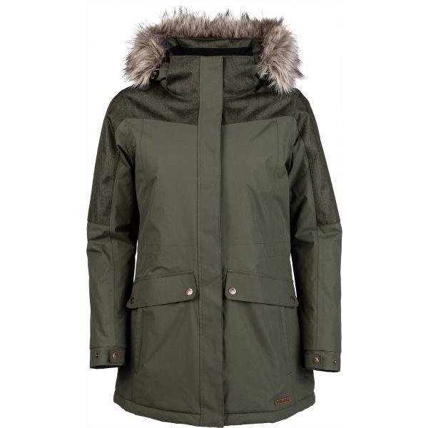 Zelená zimní dámská bunda s kapucí Head - velikost S