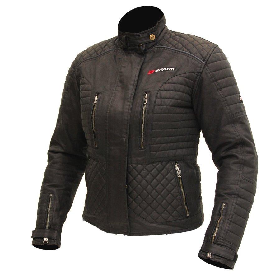 Černá dámská motorkářská bunda Cintia, Spark - velikost L