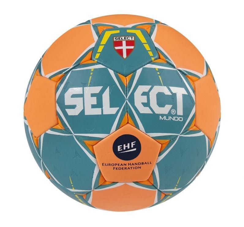 Modro-oranžový míč na házenou MUNDO, Select - velikost 2
