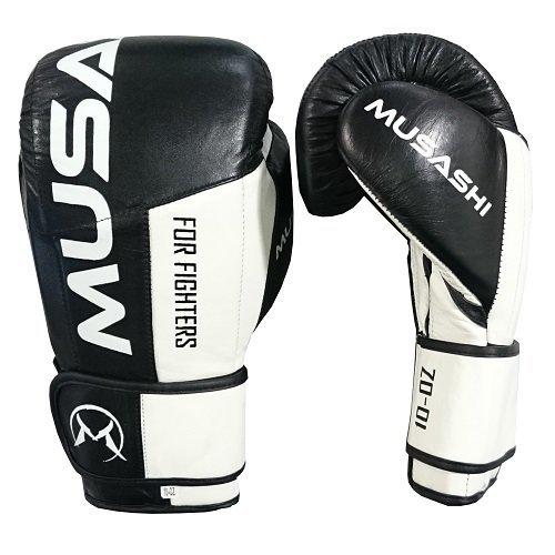 Bílo-černé boxerské rukavice Musashi