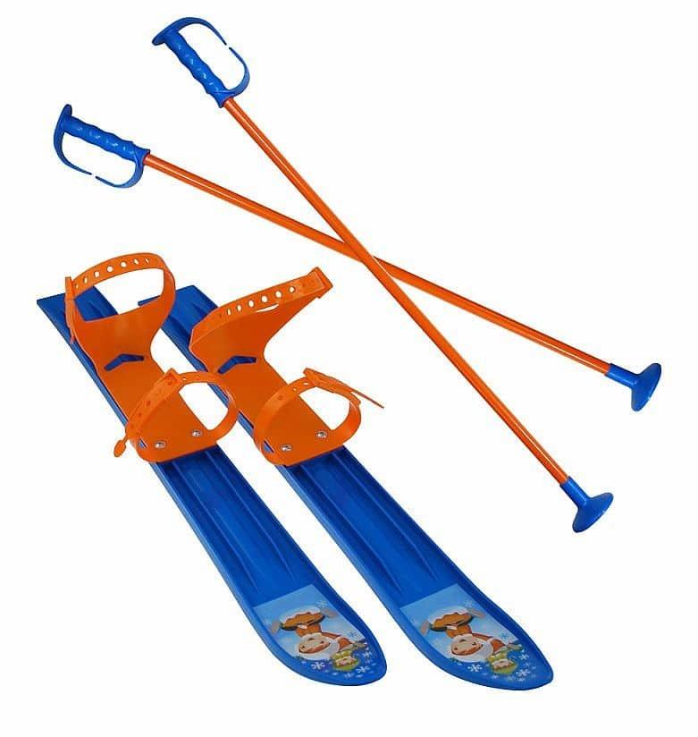 Modrá dětská sada na sjezdové lyžování Sulov - délka 60 cm