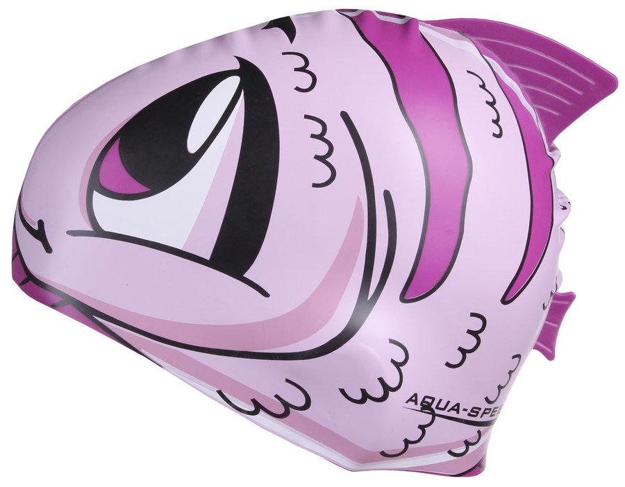 Fialová dětská dívčí nebo chlapecká plavecká čepice ZOO, Aqua-Speed