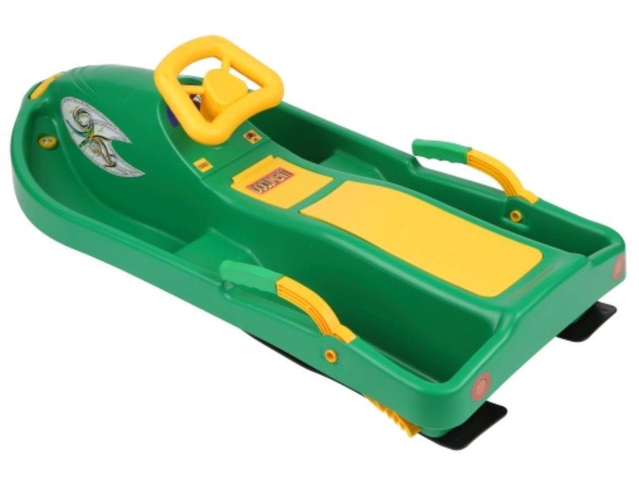 Boby - PLASTKON Boby řiditelné Snow Boat 93 x 44 x 35 cm Zelená
