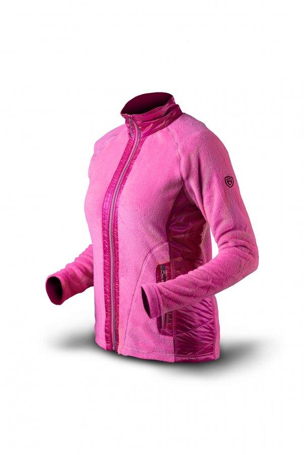 Růžová sportovní dámská mikina bez kapuce Trimm