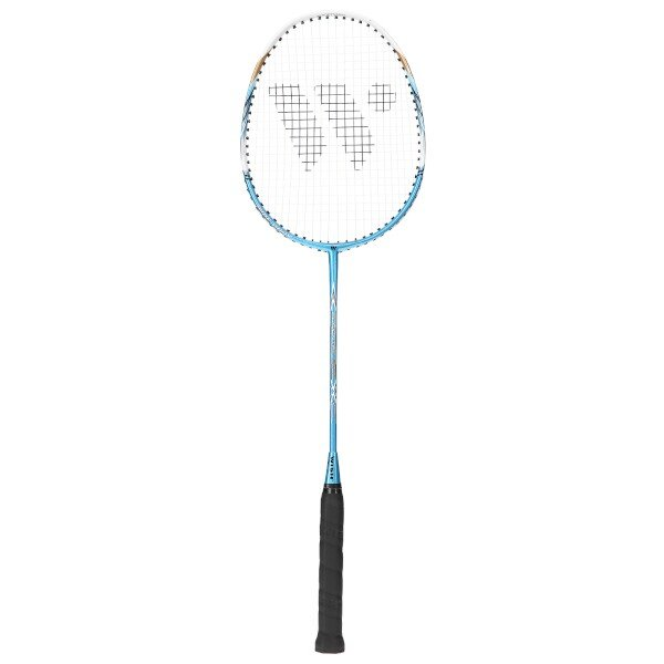 Bílo-modrá raketa na badminton Wish - délka 66,5 cm