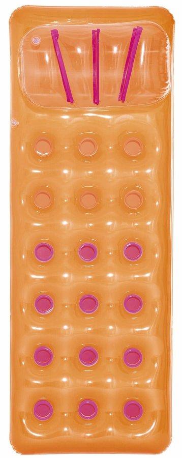 Oranžové nafukovací lehátko Bestway - délka 188 cm a šířka 71 cm