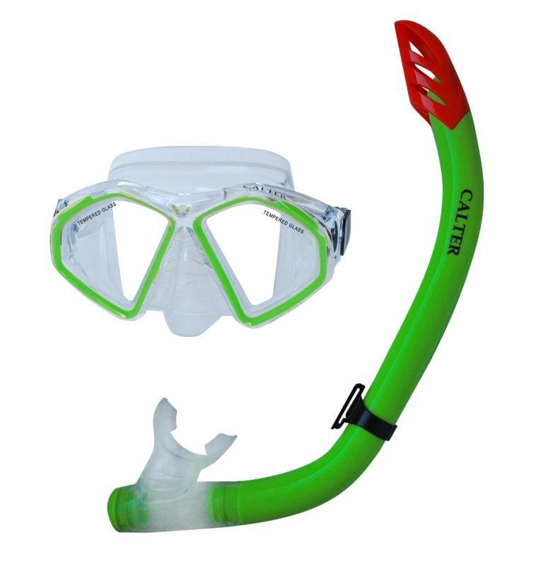 Potápěčská maska - Potápěčský set CALTER SENIOR S09+M283 P+S, zelený