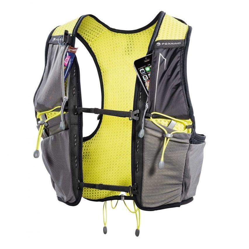 Šedo-žlutá běžecká vesta Ferrino