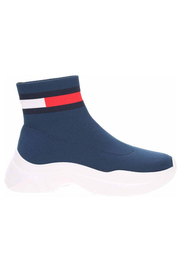Modré dámské zimní boty Tommy Hilfiger