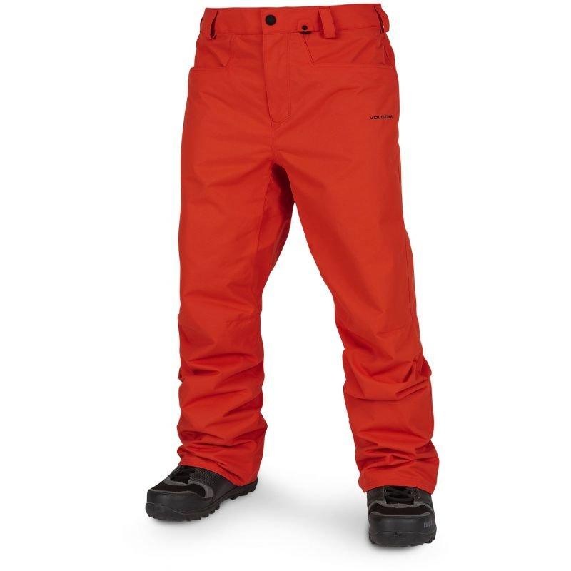 Oranžové pánské snowboardové kalhoty Volcom