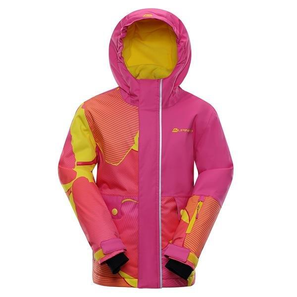 Růžová zimní dívčí bunda s kapucí Alpine Pro - velikost 92-98