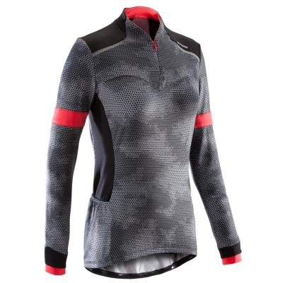 Černý pánský nebo dámský cyklistický dres B'TWIN